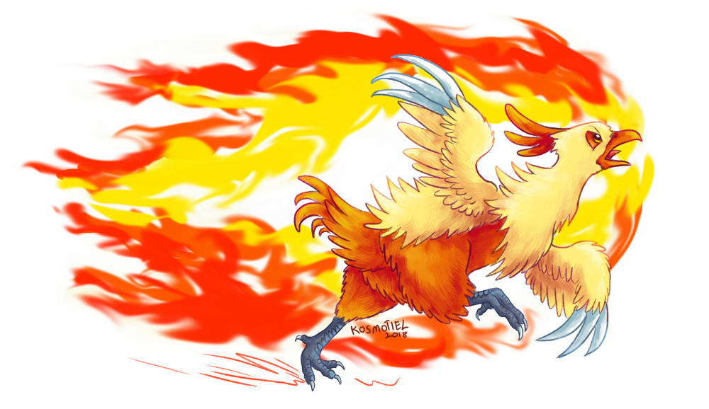 Flame Charging Combusken! by Kosmotiel