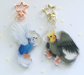 Space Bird Charms by Kosmotiel