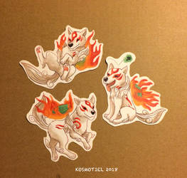 Amaterasu Okami - Stickers by Kosmotiel