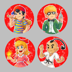 Earthbound Buttons