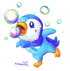 Piplup used Bubble!
