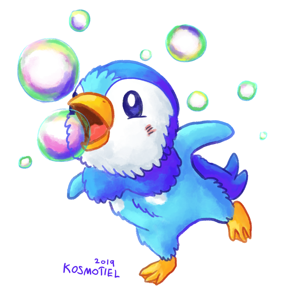 Piplup used Bubble! by Kosmotiel