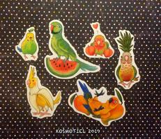 Fruit Birb Vinyl Stickers