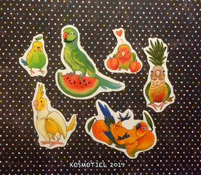 Fruit Birb Vinyl Stickers