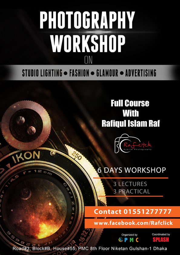 flyer design for workshop on photography by zubayer45 on