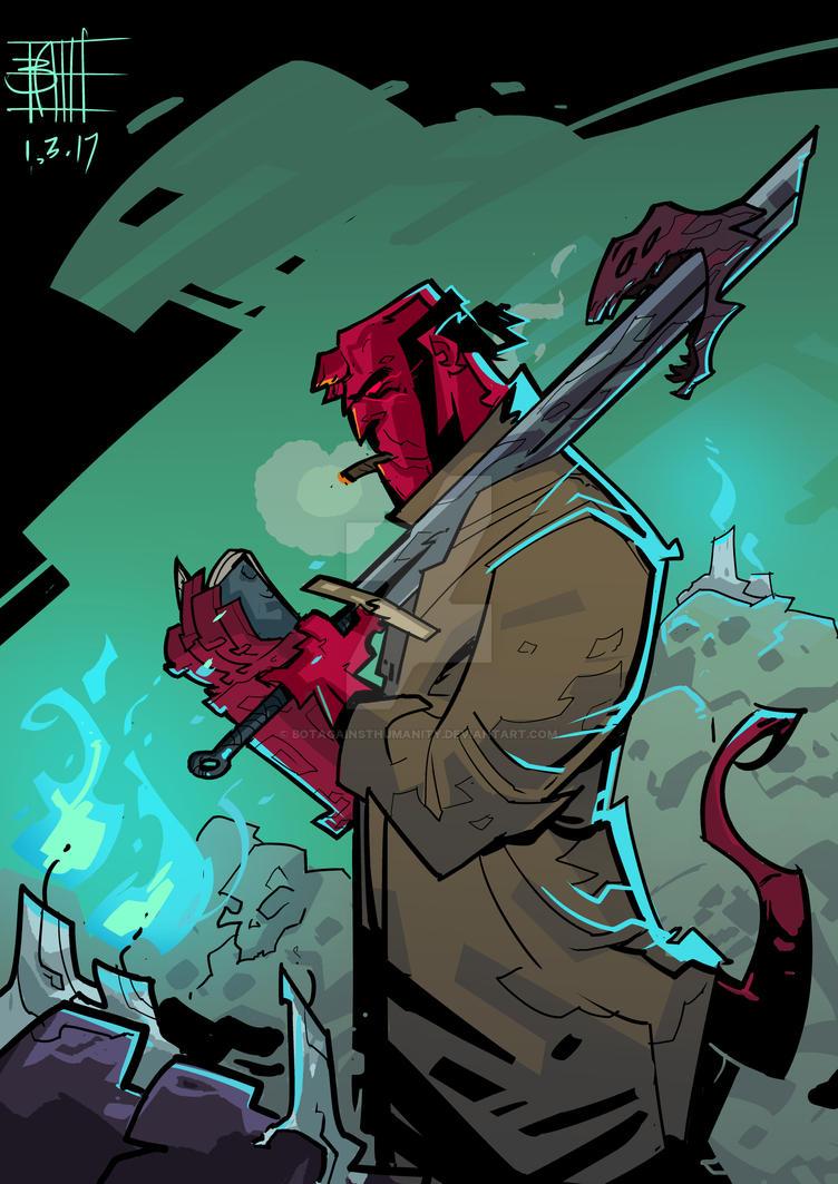 Hellboy by BOTAGAINSTHUMANITY