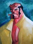Hellboy watercolors