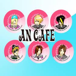 an cafe button set by Tsukiten