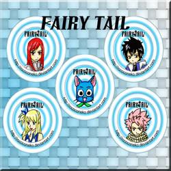 Fairy Tail button set by Tsukiten