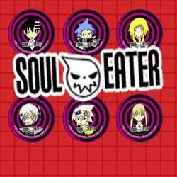soul eater button set by Tsukiten