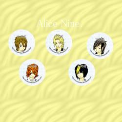 Alice Nine button set by Tsukiten