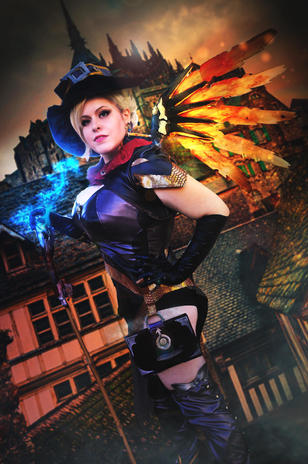 Mercy Halloween Skin - Overwatch by Kibamarta on DeviantArt