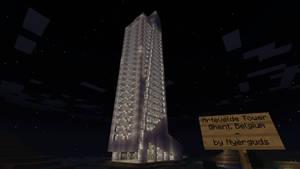 Minecraft - Artevelde Tower (Night)
