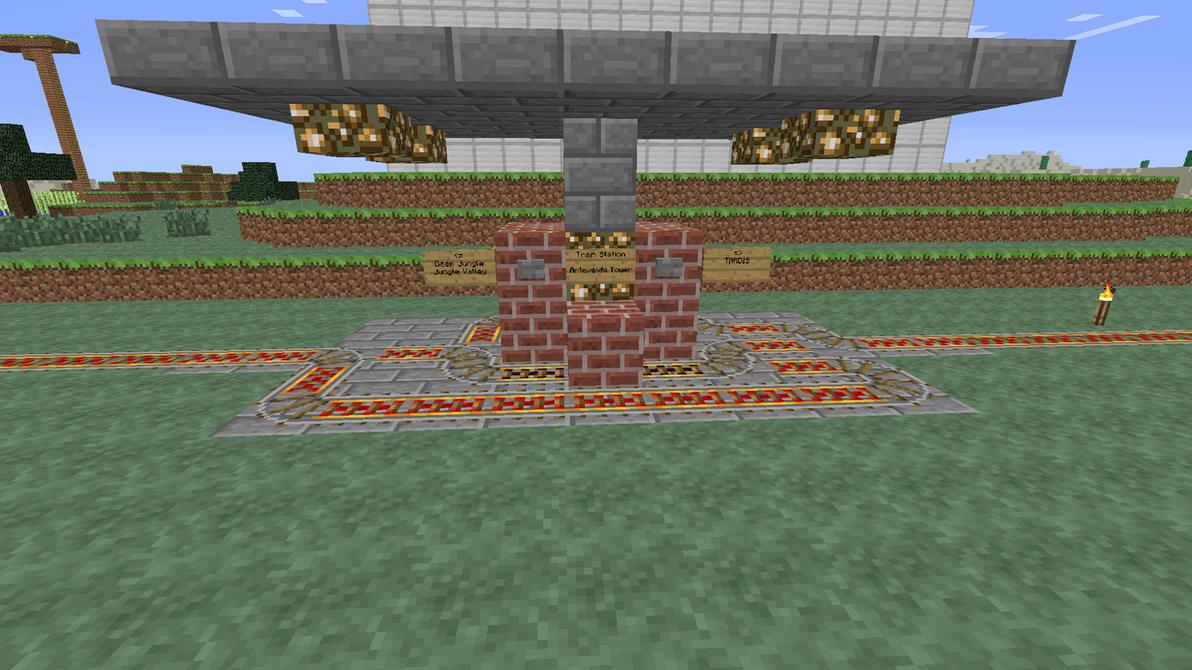 Minecraft Railroad Start Stop System By Nyerguds On Deviantart Redstone Circuits