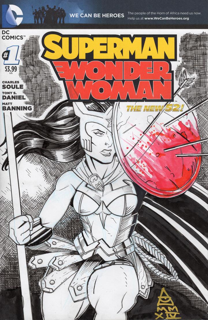 Wonder Woman Sketch Cover by LVCIFERX