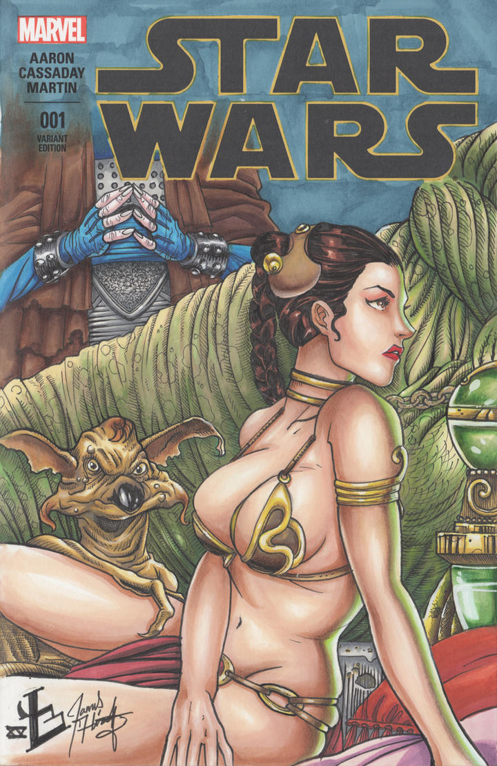 Slave Leia Cover by LVCIFERX