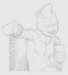 Kid Buu Sketch by LVCIFERX