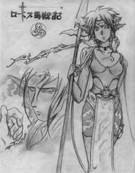 lodoss war character sketch by angel-machine