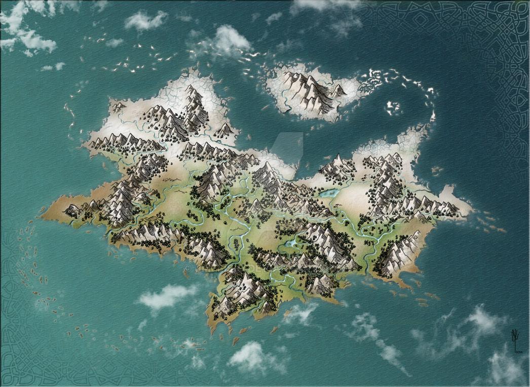 Fantasy Map Sketch 1 by jmelisio