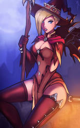 :Overwatch: Witch Mercy by Neiths
