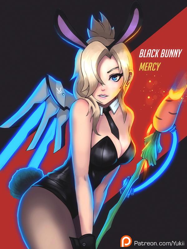 Black bunny mercy by Neiths