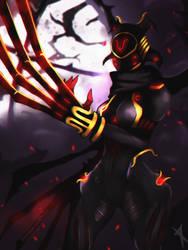 ::Warframe:: Garuda Umbra by Neiths