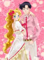 Mamoru and Usagi by Pillara