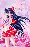 Sailor Mars_style manga art by Pillara