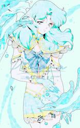 Sailor Neptune_elf_fanart_sailorMoon by Pillara
