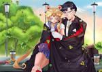 Mamoru and Usagy in love_SAILORMOON FANART