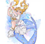 Moon mermaid_commission by Pillara
