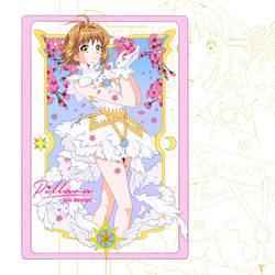 Sakura card pin design_commission