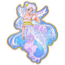 SailorCosmos mermaid pin design_commission