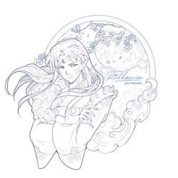 Sesshomaru sketch for pin