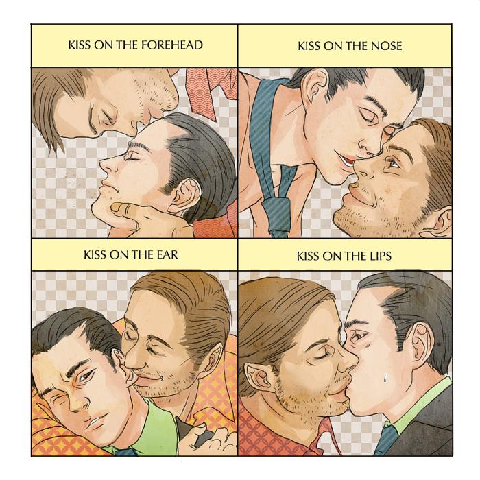 Kiss Meme - Eames and Arthur by platina