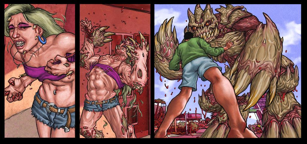 Female Werewolf Transformation Comic Deviantart