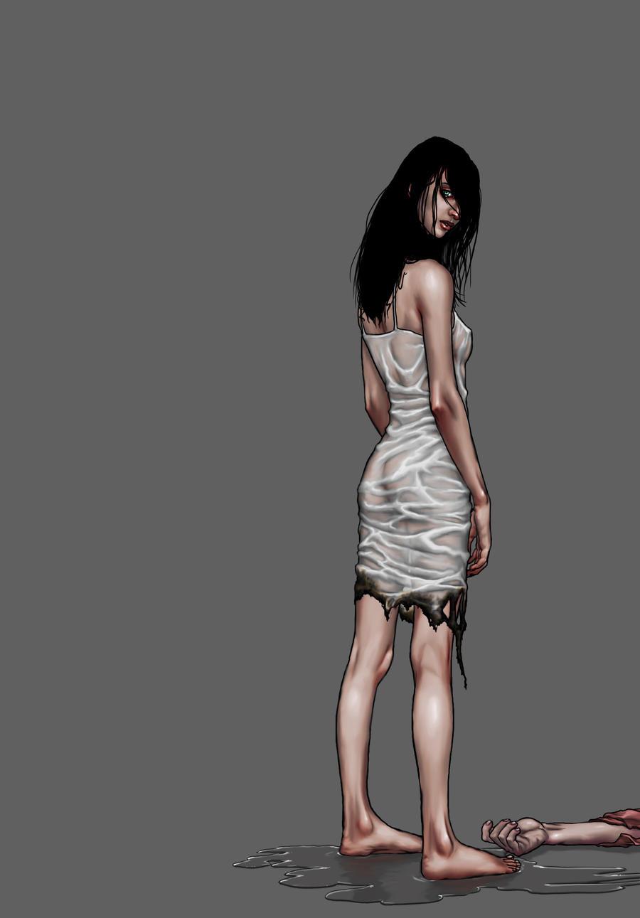 Creepy Lady. by quasilucid