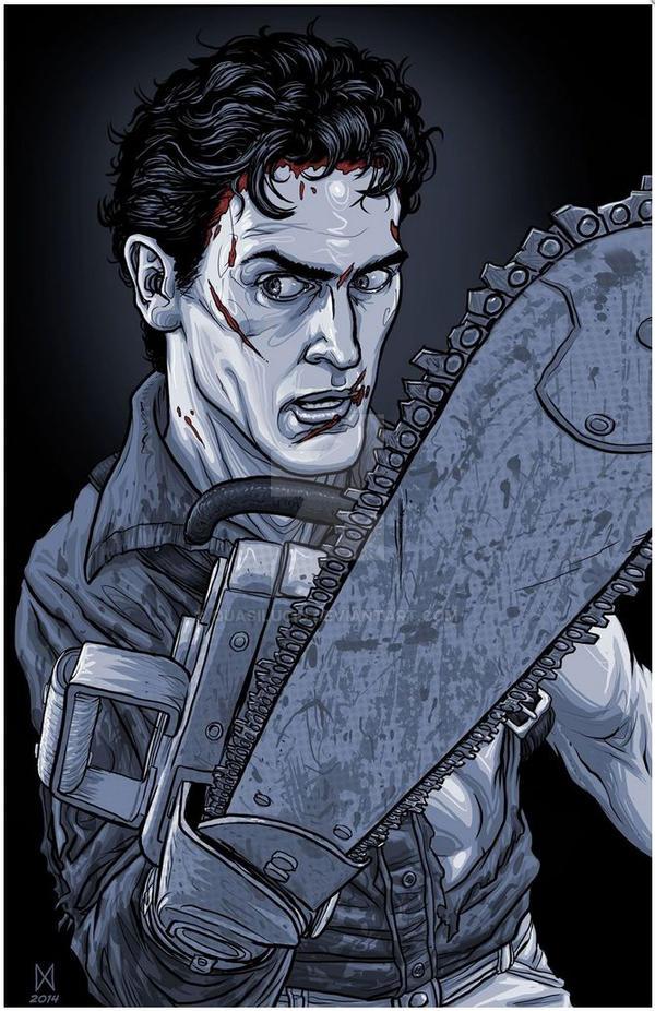 Ash - Evil Dead Art by quasilucid