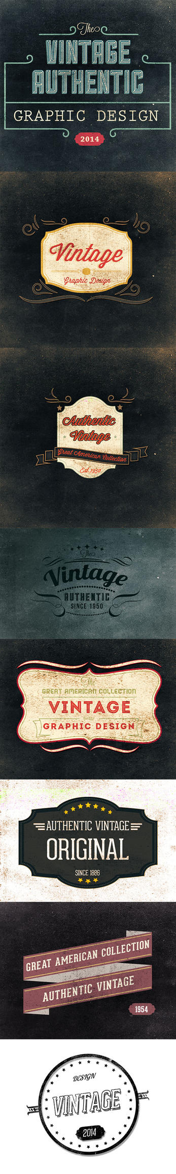 8 retro logo Vintage Dowmload link PSD by kadayoub