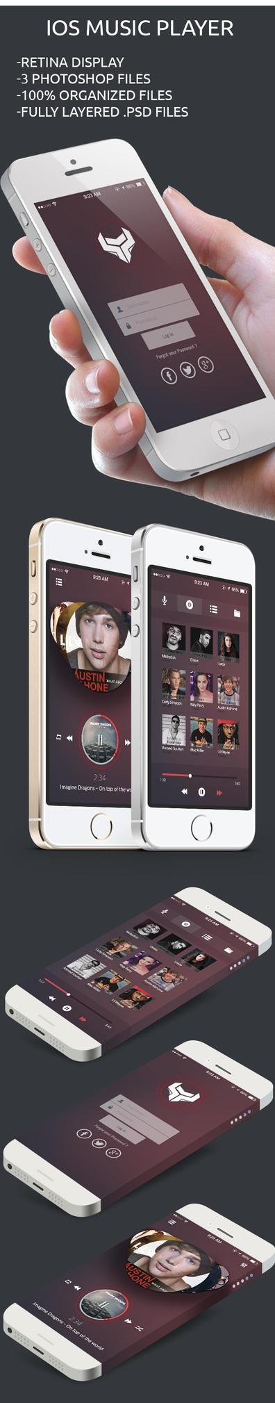 Music app Free UI psd file by kadayoub