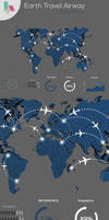 Earth Travel airway Infographic by kadayoub