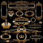 PSD-Source - Gold Vintage Elements