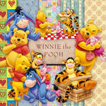 Scrap PNG Winnie the Pooh and his friends