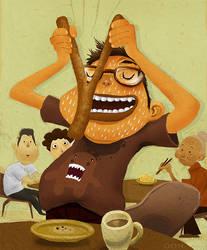 Eating 'You Tiao'