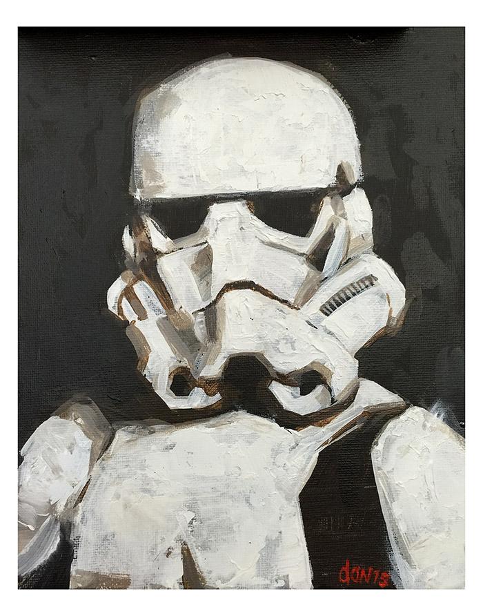 Storm-trooper Portrait (Fan Art) by southercomfort