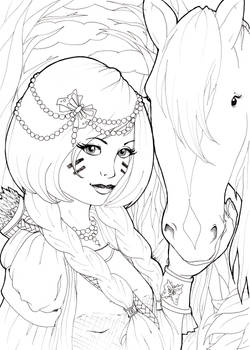 The Rider ::Lineart::