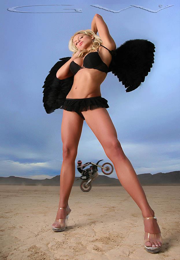 Dirt Bike Angel by GWBurns