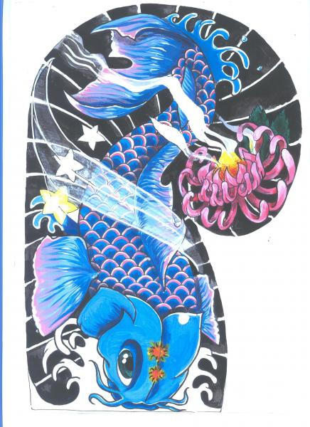 Koi carp tattoo designs katy perry buzz for Koi carp tattoo colours