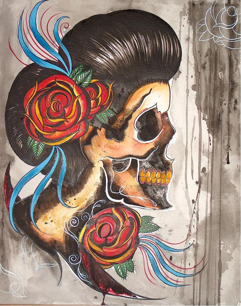 Spanish Skull By Violet Grimm On Deviantart