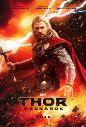 Thor Ragnarok Movie Poster by bpenaud